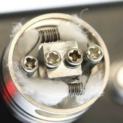 Inside a vape coil showing wick and coil