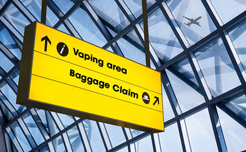 Can I vape at the airport