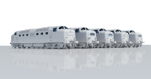 Class 55 Deltic in 4mm; our first locomotive!