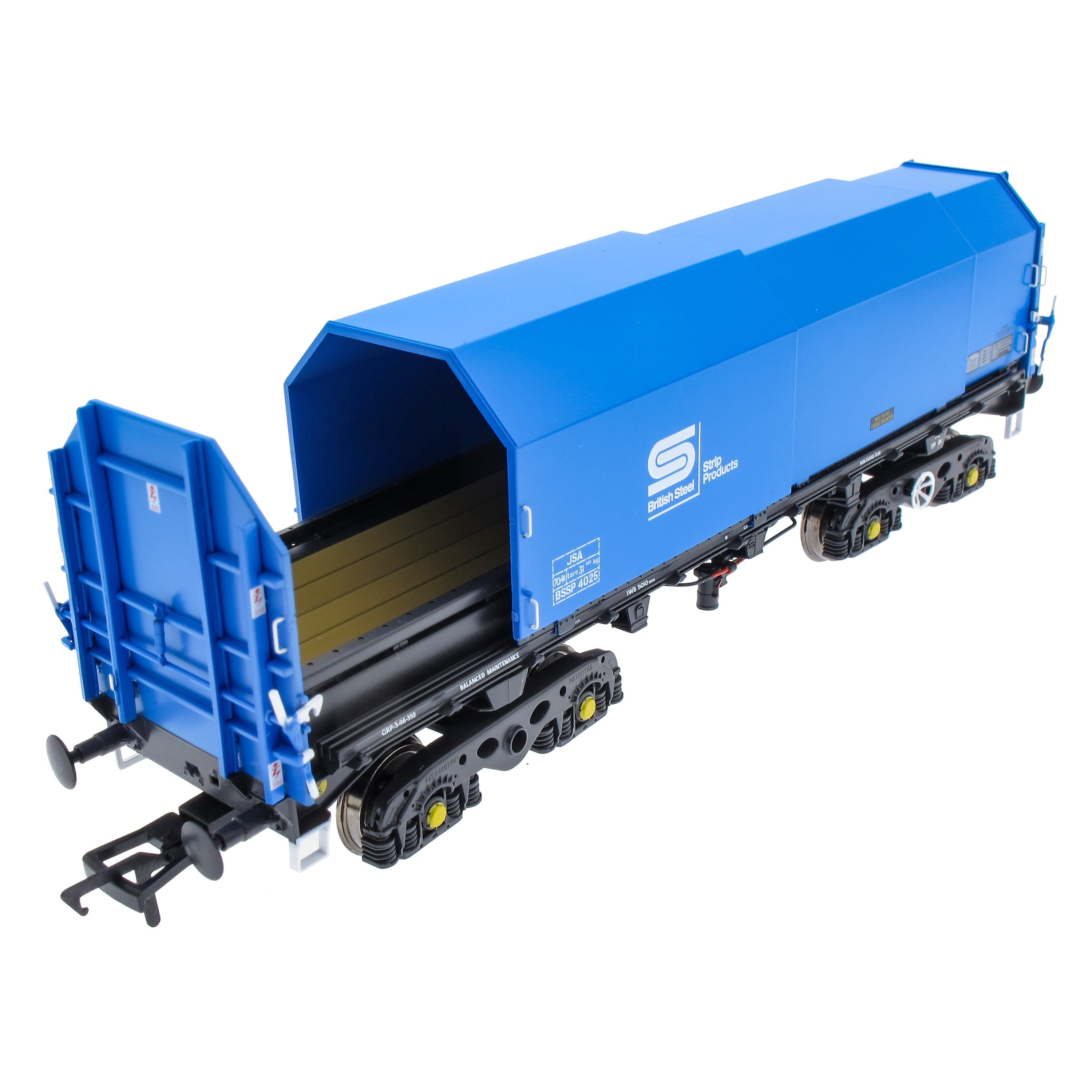 JSA Bogie Covered Steel Wagon Twin Pack - British Steel 1