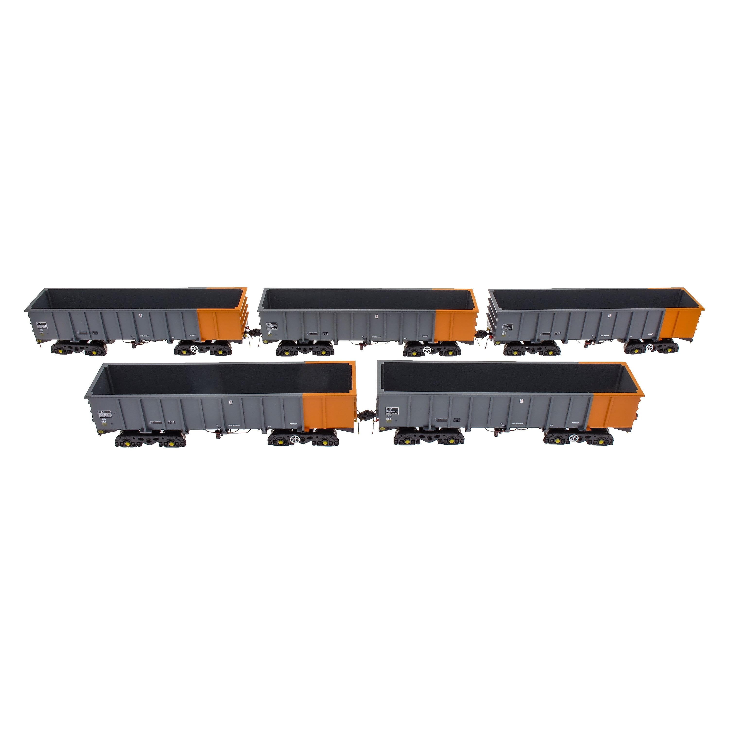 PTA/JUA Bogie Tippler Pack - British Steel Grey & Orange (Inner)