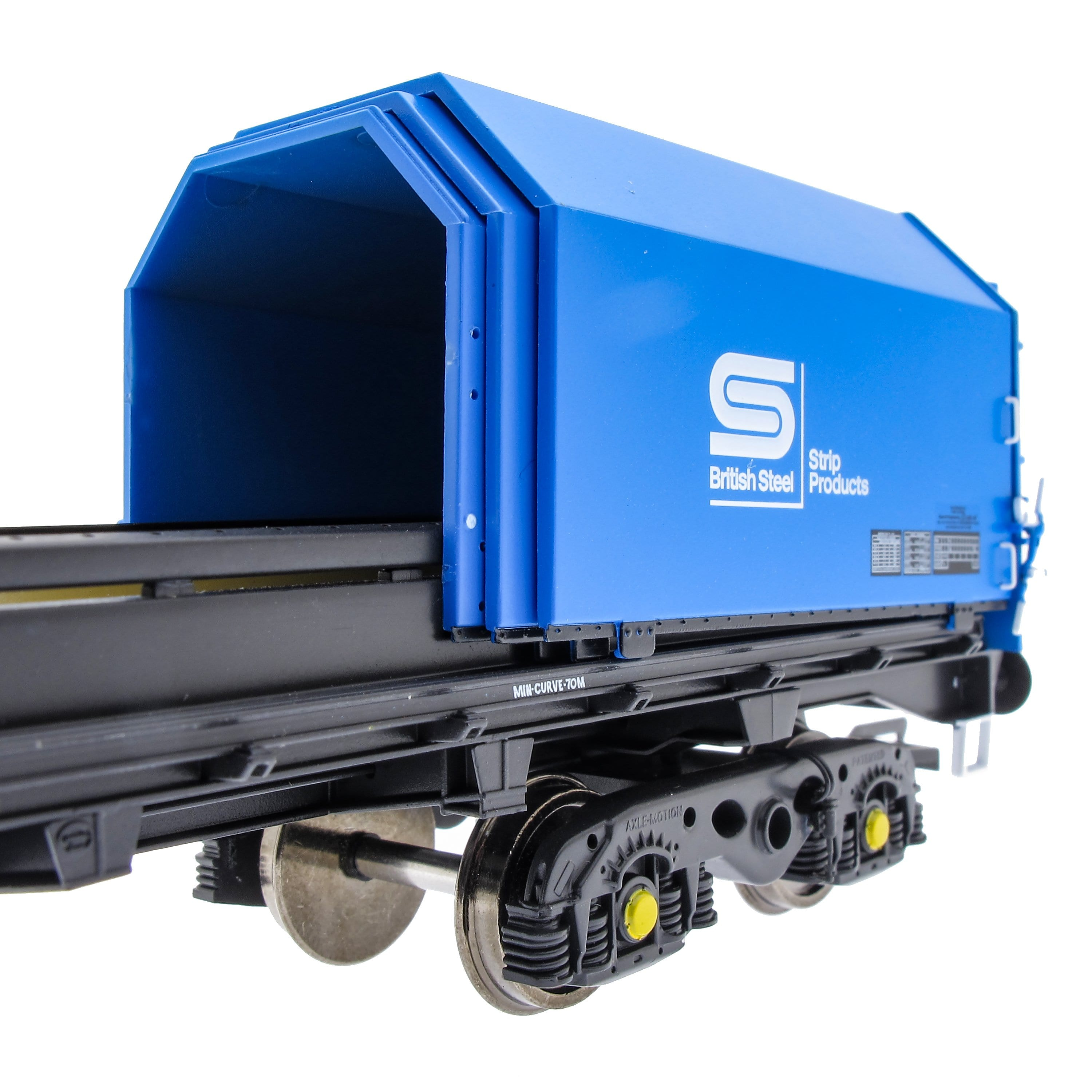 JSA Bogie Covered Steel Wagon Twin Pack - British Steel 3