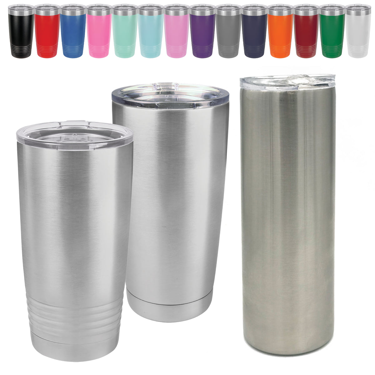 20 Oz Blank Stainless Steel Tumblers Insulated Metal Cups