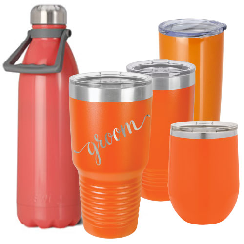 Orange Coral Personalized Insulated Stainless Steel