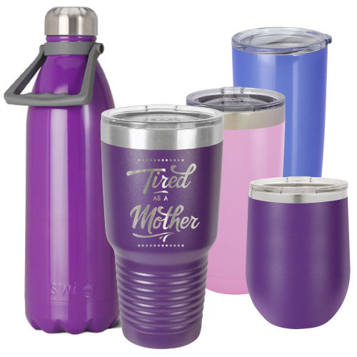 Purple Personalized Insulated Stainless Steel Tumbler