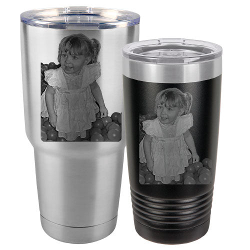 Best Travel Mugs >> Photo Tumblers - Laser Engraved Stainless Steel Insulated Picture Mugs – Bulk Tumblers