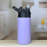 12-ounce-vacuum-insulated-stainless-steel-flip-sport-lid-kids-bottles-powder-coated-lilac-lavender-light-purple-open