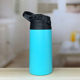 12-ounce-vacuum-insulated-stainless-steel-flip-sport-lid-kids-bottles-powder-coated-mint-seafoam-teal