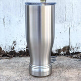 Case of 24 - Blank 14 oz Stainless Steel Insulated Pilsner Beer Glass Tumbler