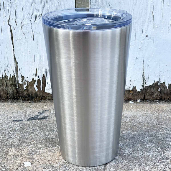 16 oz Pint Stainless Steel Blank Insulated Smooth BottomTumbler with Slider Lid