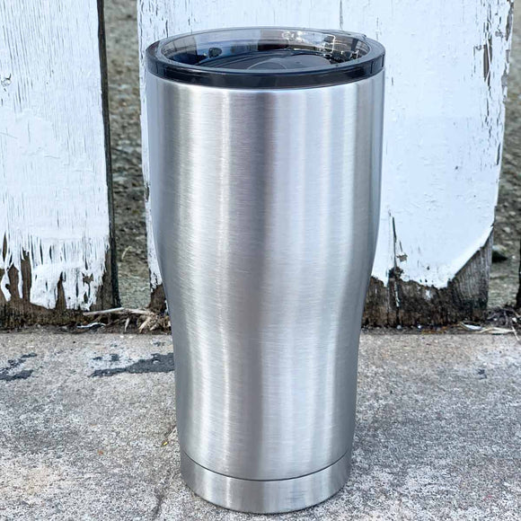20 oz Modern Curve Stainless Steel Insulated Blank Tumblers with Leak Proof Slide Lid