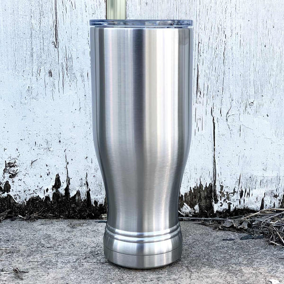 20 oz stainless steel insulated pilsner beer glass tumbler w lid