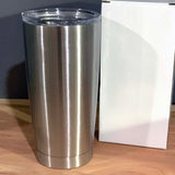 20 oz Stainless Steel Blank Insulated Smooth Tumbler with UPGRADED spill-proof lid