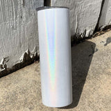 GLITTER Sublimation 20 oz Skinny Holographic Glitter Insulated Tumbler