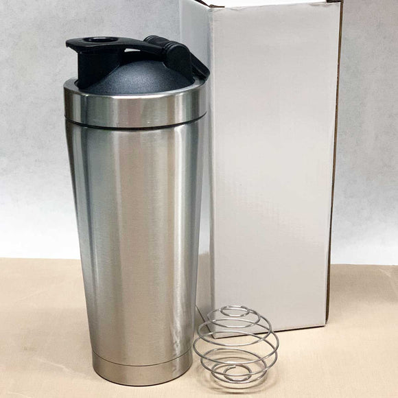 25 oz Sport Shaker w Lid and Ball - Stainless Steel Insulated Blank Tumblers