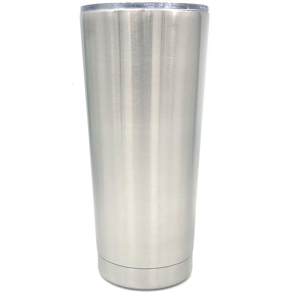 Case of 24 - 32 oz Tapered Slim Stainless Steel Insulated Blank Tumblers with Leak Resistant Slide Lid