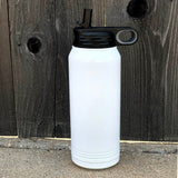Color Logo 32 oz Sport Lid Water Bottle - Stainless Steel Insulated Tumbler