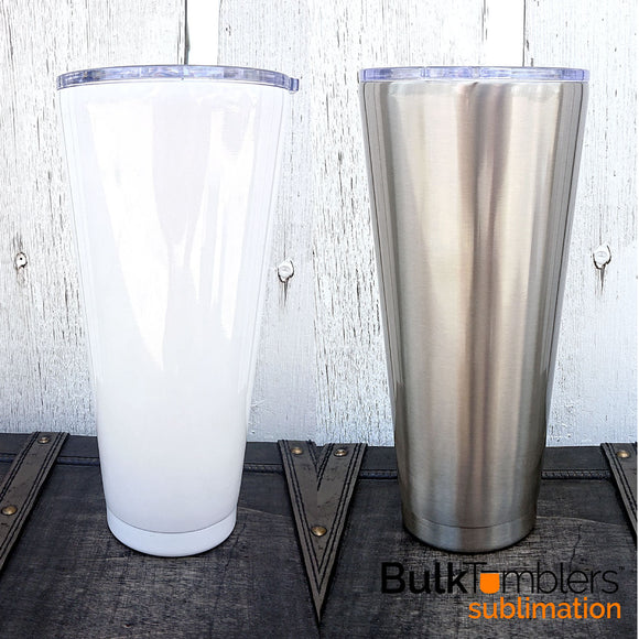 32 oz Tapered Slim SUBLIMATION Stainless Steel Blank Insulated Tumlbler