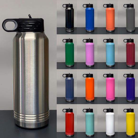 32 oz Stainless Steel Powder Coated Blank Insulated Sport Water Bottle Polar Camel