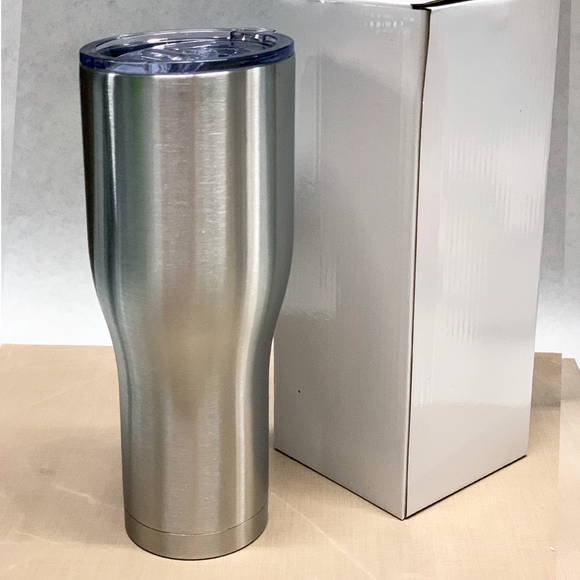 NEW LID 40 oz Modern Curve Stainless Steel Insulated Blank Tumblers with Leak Proof Slide Lid