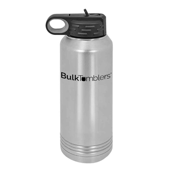 32 oz Personalized Water Bottle with Logo Laser Engraved on Insulated Stainless Steel