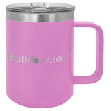 15 oz  Stainless Steel Insulated  Coffee Mug Personalized  Laser Engraved Logo Slider Lid