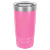 20 oz Promo Personalized Tumbler -16 colors- Logo Laser Engraved on Insulated Stainless Steel + Lid