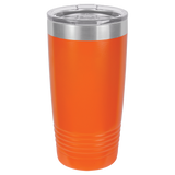 CASE of 24 - Blank 20 oz Stainless Steel Insulated SureGrip Tumblers with Lid