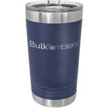 16 oz Pint Glass w Logo Laser Engraved on Insulated Stainless Steel Beer Tumblers + Lid