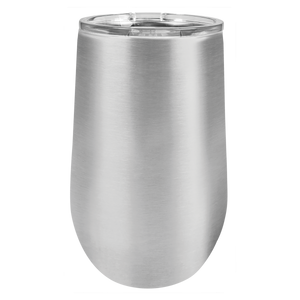 16 oz Blank Stainless Steel Insulated Stemless Wine Tumbler with Lid