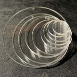 "25 Pieces - Round Circle Acrylic Blank Shape - 1"" to 5"" size"