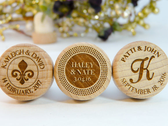 Initial Wedding Wine Stoppers