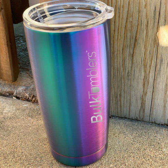 20 oz or 30 oz Rainbow Stainless Steel Double Wall Insulated Tumbler, Laser Engraved with Logo or Blank