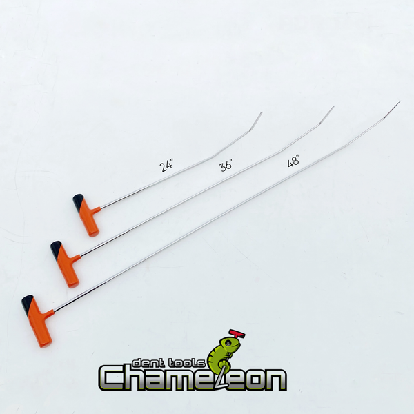 Chameleon Double Bend Round Tip  Fixed Handle 48""