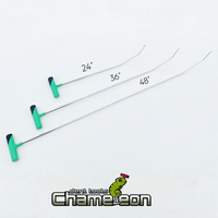 Chameleon Double Bend Sharp Tip Fixed Handle 48""
