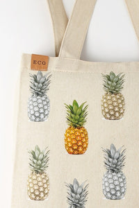 Pineapple Canvas Tote, Eco-Friendly