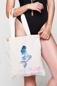 Mermaid Canvas Tote, Eco-Friendly