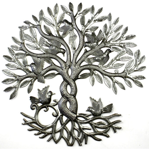Entwined Tree of Life Metal Wall Art - Croix des Bouquets