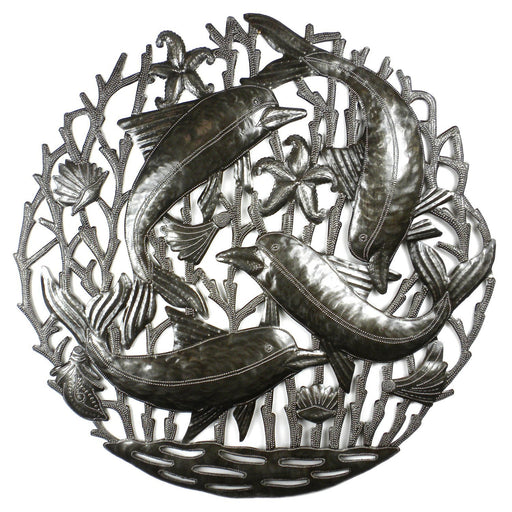 Pod of Dolphins Metal Wall Art - Croix des Bouquets
