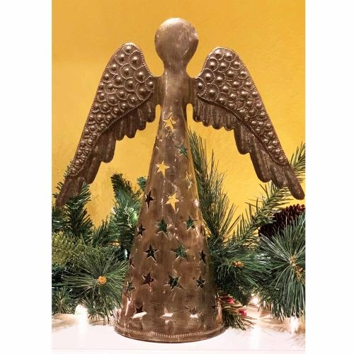 14-inch Metalwork Angel - Wings Down  - Croix des Bouquets (H)