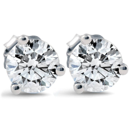 Martini-Style Diamond Studs 14k White Gold