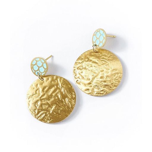 Dhavala Earrings - Gold Coin - Matr Boomie
