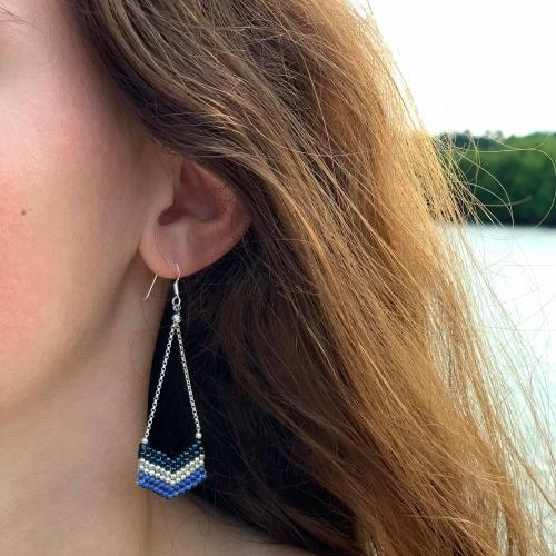 Earrings: Eve Evening Blue - Marquet (J)