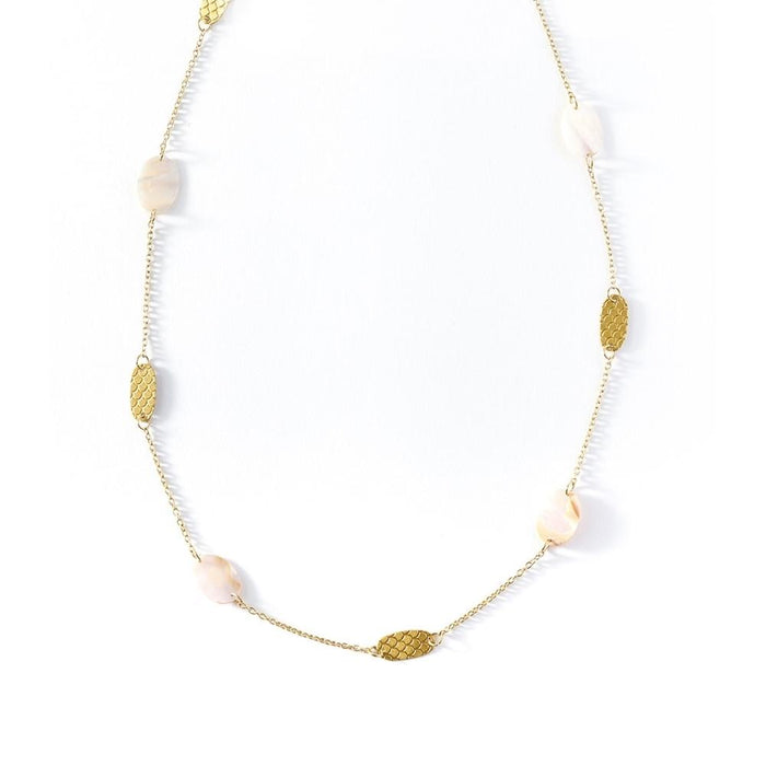 Dhavala Necklace - Pearl Coin - Matr Boomie