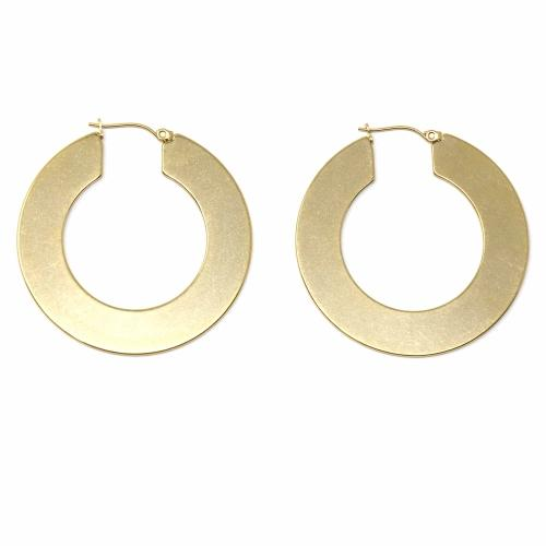 Savanah - Thick Gold Hoop Earrings - Starfish Project