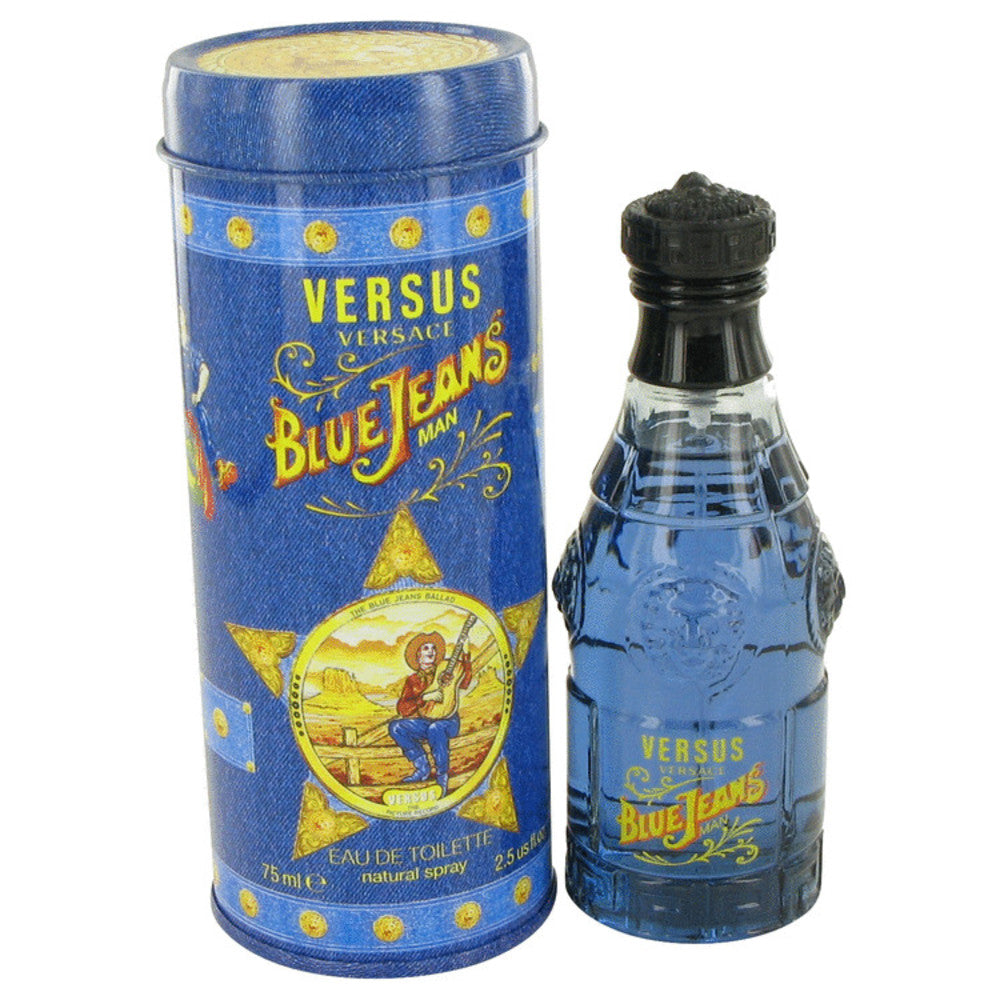 Blue Jeans By Versace Eau De Toilette Spray (new Packaging) 2.5 Oz For Men