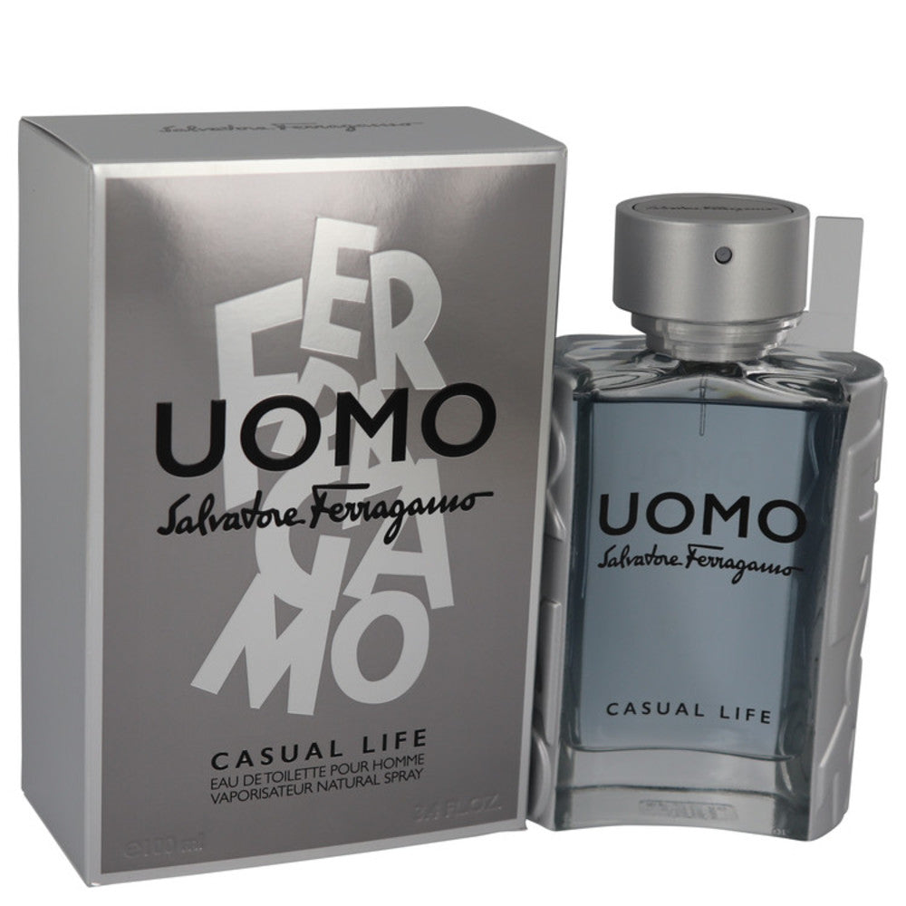 Salvatore Ferragamo Uomo Casual Life By Salvatore Ferragamo Eau De Toilette Spray 3.4 Oz For Men