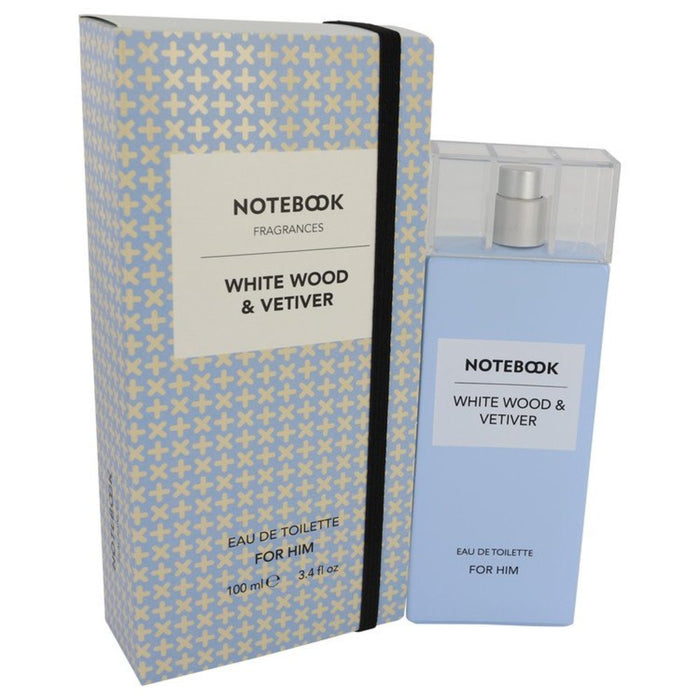 Notebook White Wood and Vetiver By Selectiva Spa Eau De Toilette Spray 3.4 Oz For Men