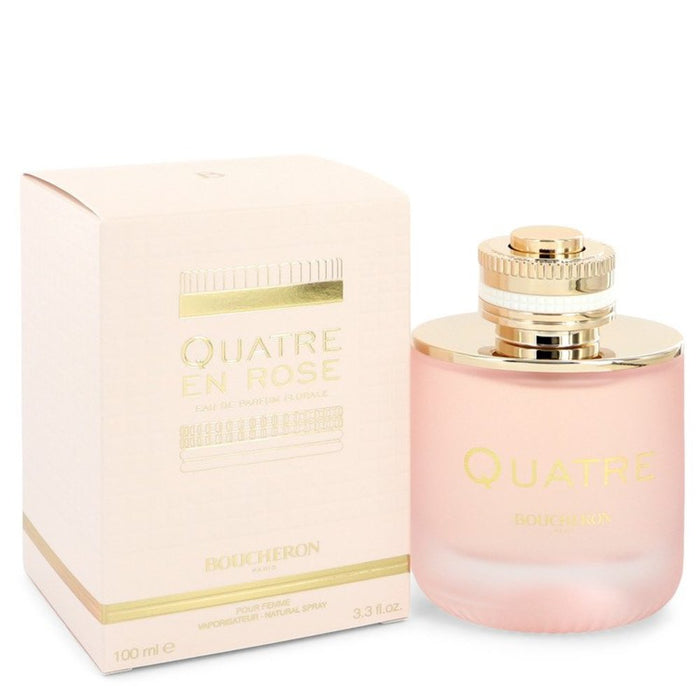 Quatre En Rose Florale By Boucheron Eau De Parfum Spray 3.3 Oz For Women