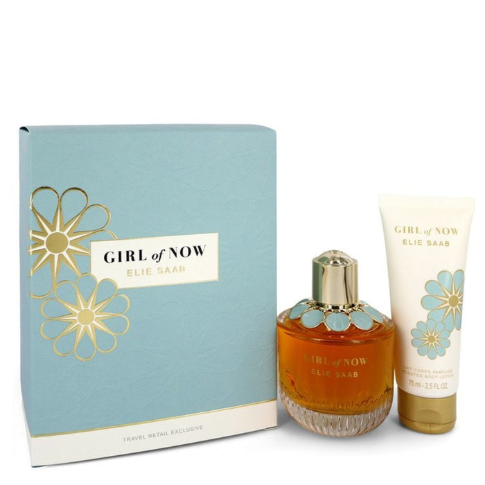 Girl Of Now By Elie Saab Gift Set -- 3 Oz Eau De Parfum Spray + 2.5 Oz Body Lotion For Women